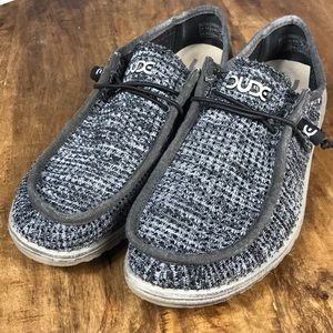 Hey Dude Wally Knit Casual Loafers Size 12